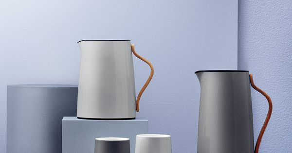 isolierkanne teekanne grau buchengriff stelton emma k che haushalt p r o d u. Black Bedroom Furniture Sets. Home Design Ideas