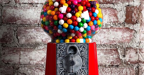 """I still have my gum ball machine! It's just like this one, except my plastic """"door"""" on ..."""