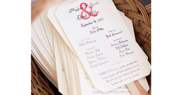 DIY wedding program fans. Photo: Corbin Gurkin.
