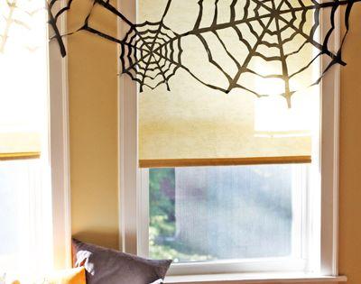 #Halloween DIY spiderwebs made from trash bags via @howaboutorange HalloweenDecorations HalloweenIdeas