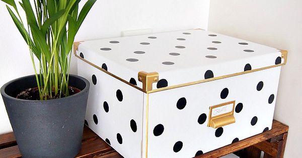 ikea hack boxen mit schwarz wei muster diy ideas. Black Bedroom Furniture Sets. Home Design Ideas