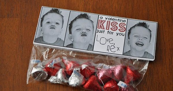 Cute idea to give out at school for Christmas or Valentine's day.
