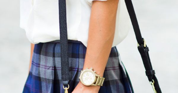 Gossip girl style! Preppy and girly, would've been perfect if the skirt