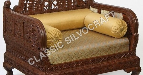 Wooden Sofa Furniture royal indian rajasthani jodhpur hand carved teak wooden sofa diwan