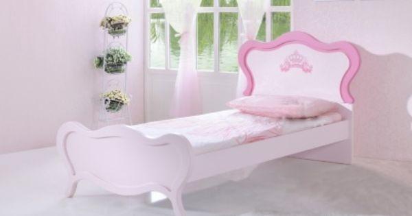 Roze meisjes kinderbed 39 prinses 39 kinderbedden roze en model - Gordijnen meid ...