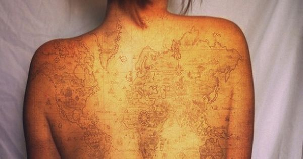 travel tattoo world map