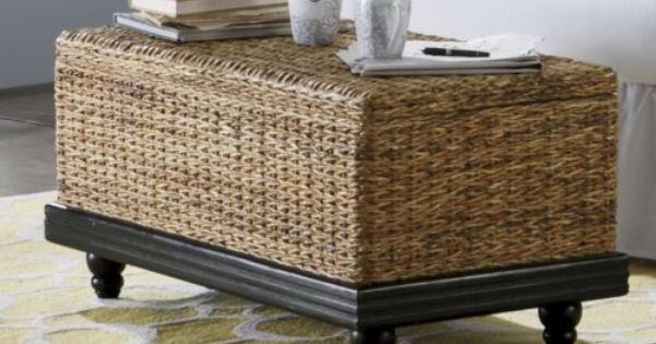Seagrass coffee table from through the country door for for Seagrass coffee table