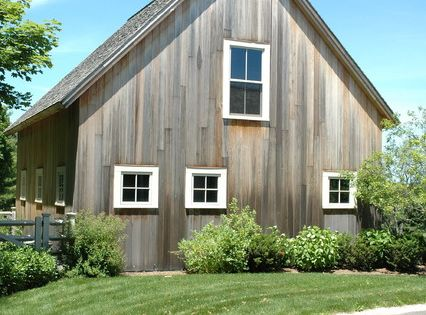Vertical Vinyl Siding Garage And Shed Farmhouse With A