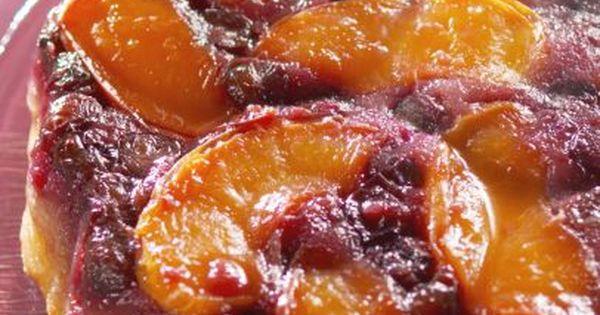 Farmhouse Rules Peach Blueberry Upside Down Cake Recipe