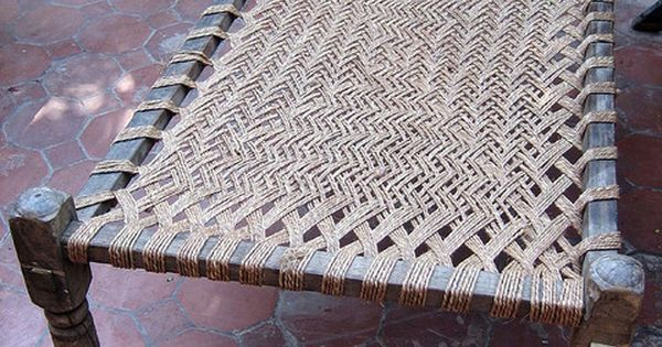 Cot Made In India Materials Wood Rope Weave Hut