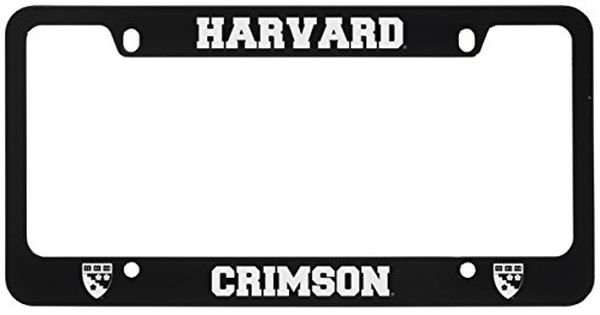 Harvard University Metal License Plate Frame Black Lxg