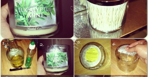 Recycle And Reuse Use Candle Glass Jars For Q Tips Cotton Balls Makeup Brushes Makeup Etc