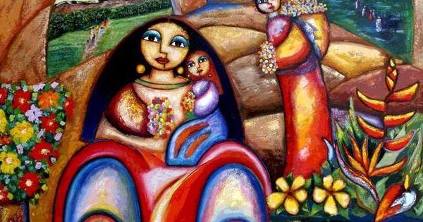 Segundo huertas torres pintor colombiano pintura tipica for Pintor y muralista colombiano