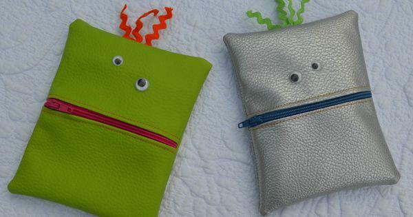 porte monnaie monstre pour enfant en simili cuir porte monnaie portefeuille porte cartes. Black Bedroom Furniture Sets. Home Design Ideas