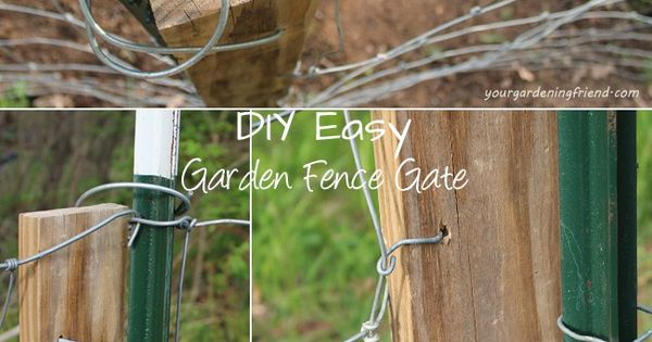 Make your own garden fence gate with repurposed or cheap for Make your own fence