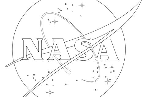 NASA Logo Coloring Page From Spaceships Category. Select