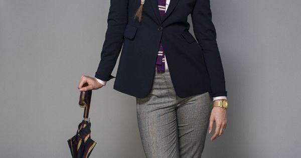 The classics always look good, like a navy blazer, pale ...