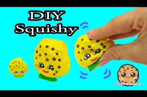 DIY Squishy Shopkins Season 1 Kooky Cookie Inspired Craft Do It Yourself - CookieSwirlC Video ...