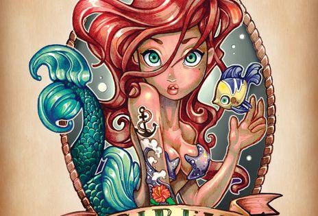 Disney Princesses as Pin Up Tattoos