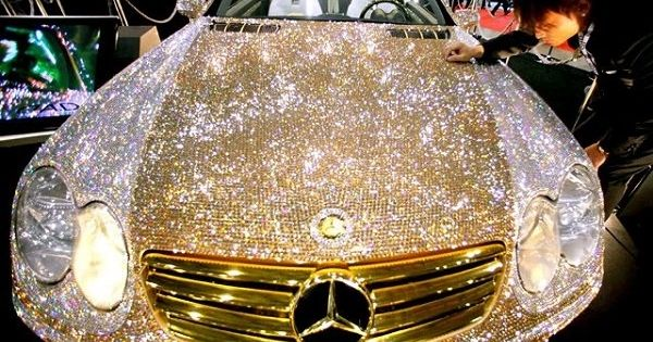 Diamond Swarovski crystal covered Mercedes! My dream car