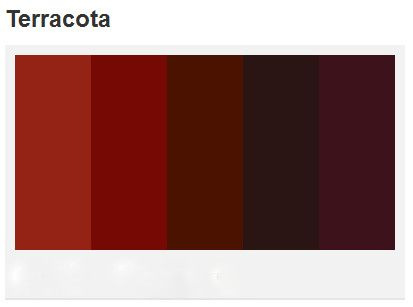 If Your Terra Cotta Leans More Toward An Earthy Brown Color Than Orange You Might Stick With Colors Like Burnt Si Terracotta Complementary Colors Color Mixing