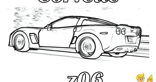 free_corvette_car_coloring_super_fast_cars_01gif 1200927 to do burning pinterest corvettes colouring pages and rear view - Corvette Coloring Pages Printable