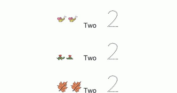 Preschool Math Worksheet Sample For Age 2 Preschool