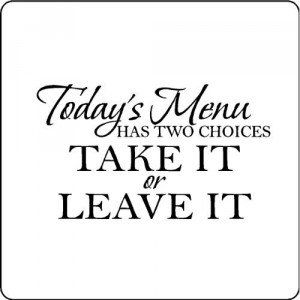 Todays Menu Kitchen Wall Words Quotes Sayings Kitchen Quotes