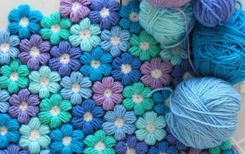 Mollie Flower Crochet Blanket Pattern : Crochet Puff Flower Blanket Free Pattern Best Crochet ...