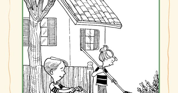 responsibility coloring pages - photo#31