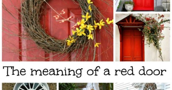 What does having a red door mean doors and front doors - What does a red front door mean ...