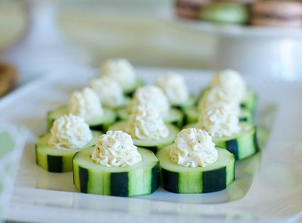 garlic herb cucumber bites by annieseats, via Flickr~ so cute and yummy!