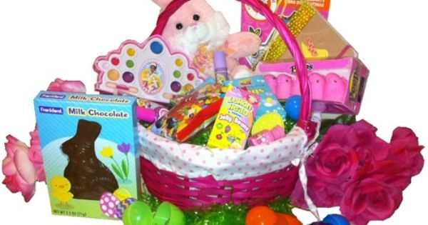 Egg Streme Glamour Girl Easter Gift Basket For Girls Ages 6 To 9 Years Old
