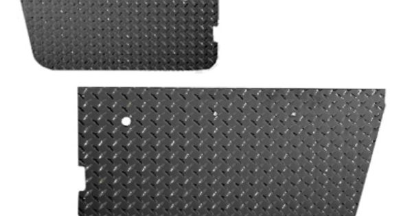 Warrior Products Door Panel Inserts In Black Diamond For 76 95