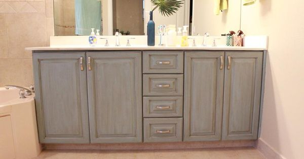 Cabinets Painted Using Valspar Chalky Paint Used Wax And
