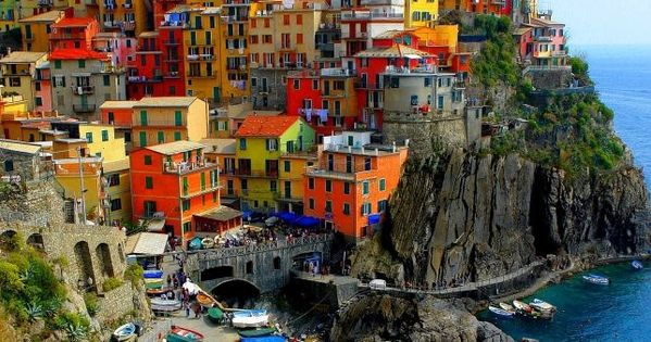 Color enhanced view of Manarola, Italy (cinque terre). This is very similar