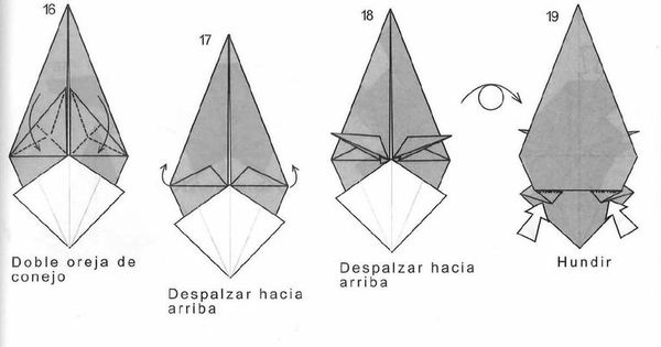 origami wolf  2  3  by bolsitadweed origami pinterest