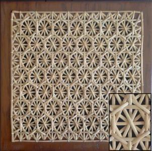 Sampleofthehoneycombhandweavecanepattern Bamboo Weaving Paper Weaving Caning