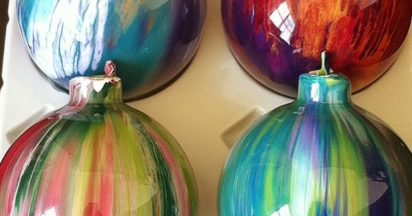 More of my hand-painted ornaments- These are my favorites!!