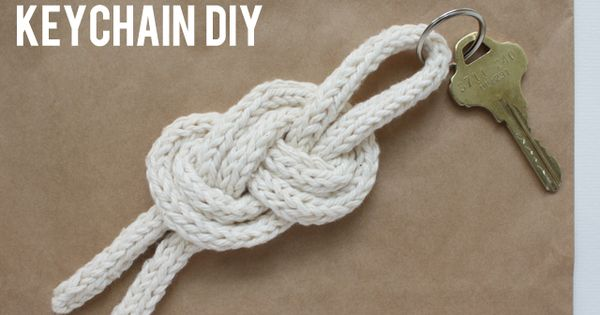DIY sailor knot keychain diy