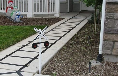 Duct Tape Train Tracks and other train themed party ideas