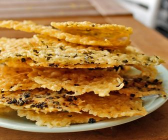 Cauliflower Parmesan Chips Parmesan Chips Food