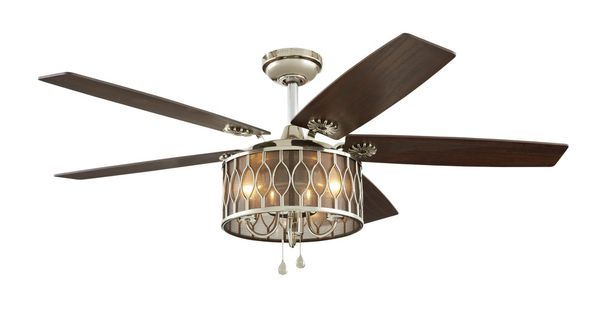 Shop Harbor Breeze Angora Harbor 52 In Polished Nickel
