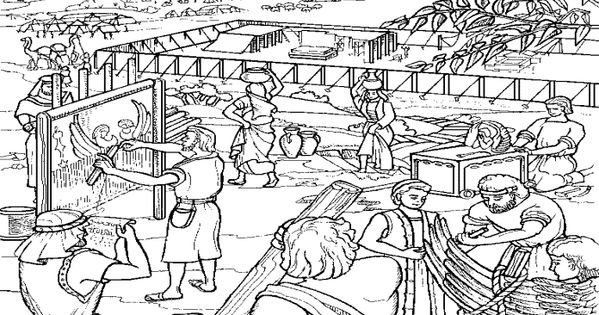 Building The Tabernacle Free Coloring Pages