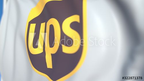 Waving Flag With United Parcel Service Inc Ups Logo Close Up Editorial 3d Rendering Ad Parcel Service United Wa In 2020 Ups United Parcel Service Parcel