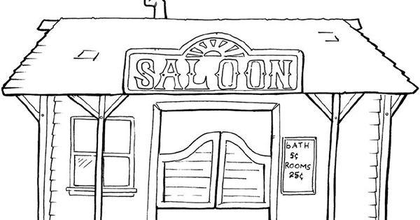Dessins gratuits colorier coloriage cowboy imprimer - Dessin saloon ...
