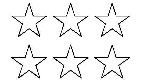 2 Inch Star Pattern. Use The Printable Outline For Crafts