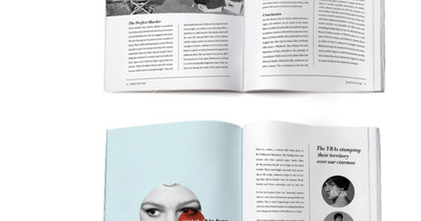 Magazine spread layout design inspiration