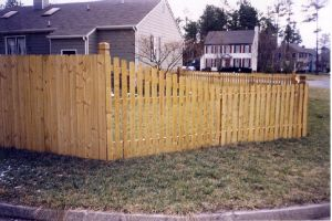 X Round Top Picket Fence Panel 4 Foot Decorative Fence