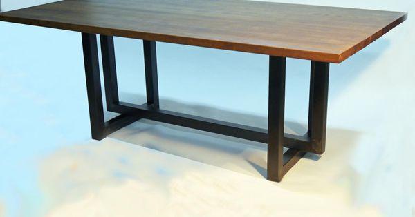 Mesa de comedor manix estilo industrial con sobre de roble - Empanelados de madera ...